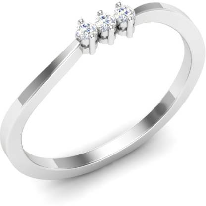 Kataria Jewellers The Adaliz BIS Hallmarked Gold 14kt Diamond White Gold ring