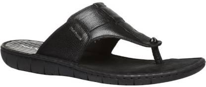 Hush Puppies By Bata SEDAN THONG Men Black Sports Sandals