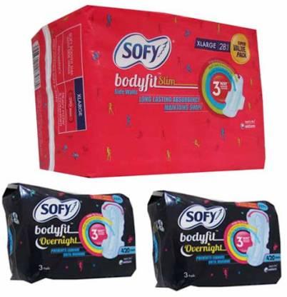 Sofy Side Walls Body Fit Xl Day And Xxxl Night Sanitary Pad