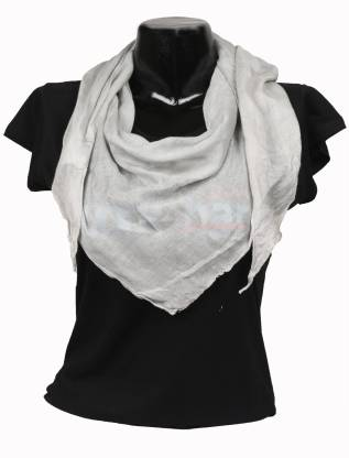 Amirich Solid Silk Brocade Women Scarf