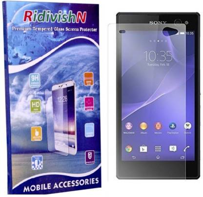 RidivishN Tempered Glass Guard for Sony Xperia M2