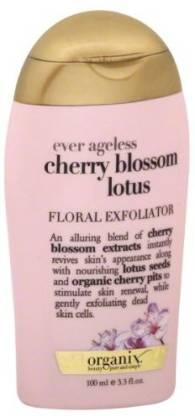 ORGANIX Ever Ageless Cherry Blossom Lotus Floral Exfoliator Scrub
