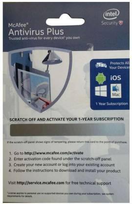 McAfee Anti-virus 1 User 1 Year