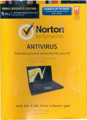 Norton AntiVirus 5 PC 1 Year