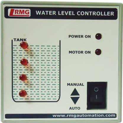 """RMG """"Automatic Water Level Controller With Indicator For Motor Pump Operated By Switch/Mcb Upto 1.5 Hp - Tank Only"""" Wired Sensor Security System"""
