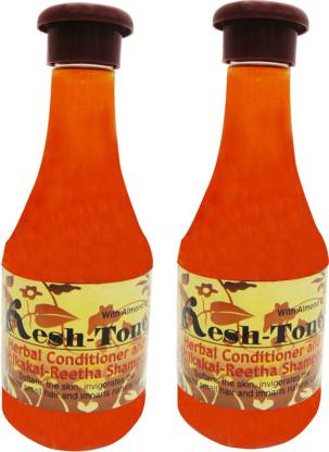 Kesh Tone Herbal Conditioner And Shikakai-Reetha Shampoo Pack Of 2