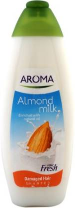 AROMA Almond Milk Enriched With Natural Oil Fresh Shampoo (Made In EU)