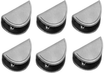 Smart Shophar Stainless Steel D Type Glass Shelf Bracket 1.5 Inches :: 6 mm 6 Pc 3.81cm X 1.9cm Shelf Bracket