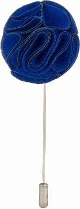 Knighthood by FBB Royal Blue Bunch Flower Stainless Steel Sliding Pin Shirt Stud