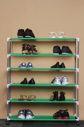 Pearl 6 Layers Shoe Rack Small Structure Metal Collapsible Shoe Stand