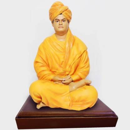 Swami Vivekananda life like statue Decorative Showpiece  -  14 cm