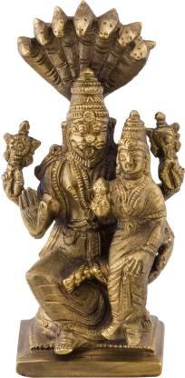 Prachin Bnz Narasimha Laxmi Big Decorative Showpiece  -  13 cm