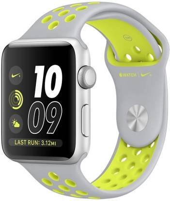 APPLE Watch Nike+ - 38 mm Silver Aluminum Case with Flat Silver