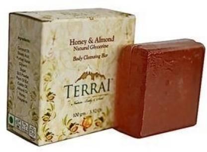 Terrai Honey & Almond Natural Glycerine Body Cleansing Bar