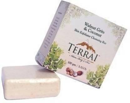 Terrai Walnnut Grits & Coconut Skin Exfoliator Cleansing Bar