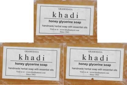 KHADI NATURAL Handmade Honey Glycerine Soap - Pack of 3