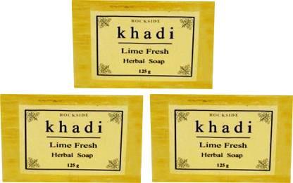 Rockside Khadi Lime Fresh Herbal Soap