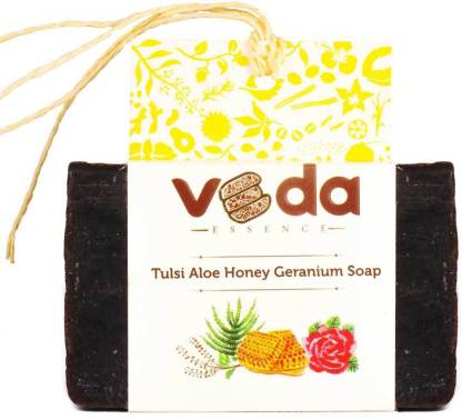 VEda ESSENCE Tulsi Aloe Honey Geranium Soap