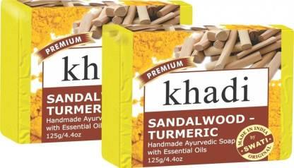 KHADI NATURAL Sandalwood-Turmeric Soap