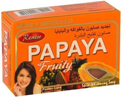 RENEW Papaya Fruity Skin Whitening Herbal Soap (Made In Philippines)