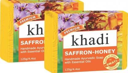 KHADI NATURAL Saffron-Honey Soap
