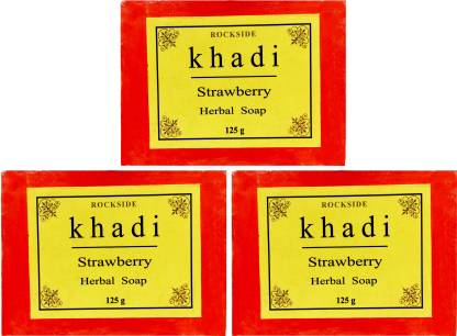 Rockside Khadi Strawberry Herbal Soap