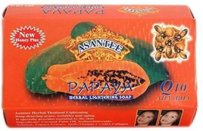 ASANTEE Thai Papaya Herbal Skin Whitening Soap