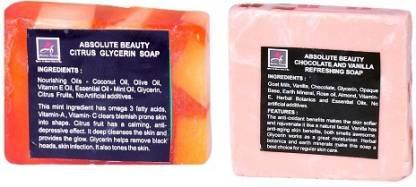 Absolute Beauty Chocolate Vanilla And Citrus Glycerin Whitening Glow Skin Care Handmade Fairness Soap