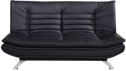 FURNY Edo Double Foam Sofa Bed Finish Color   Black Mechanism Type   Fold Out Delivery Condition   Knock Down