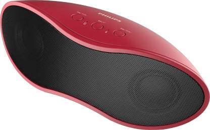 Philips BT4200/94 8 W Portable Bluetooth Speaker   Red, Black, Mono Channel  Philips Speakers