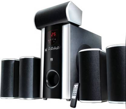 iBall Booster 5.1 USB/SD Multimedia Speakers Black, 5.1 Channel  Iball Speakers
