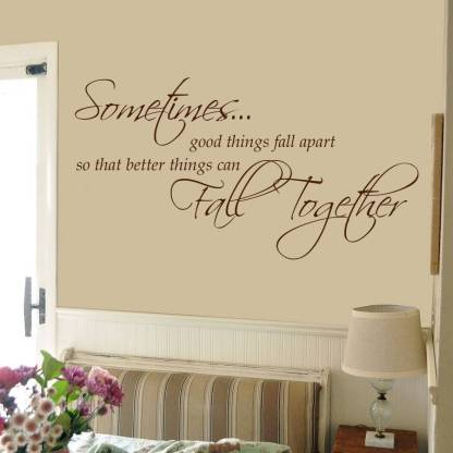 decor kafe Medium Wall Sticker For Bedroom