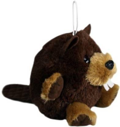 "PurrFection Benny Cushy Critter Beaver 5"" Plush School Bag"