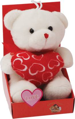 Dimpy Hanging Teddy-Love Heart with Box  - 5.51 inch