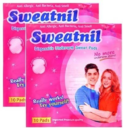 Sweatnil Twin Pack Self Stick Disposable Underarm Sweat Pads