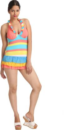Fashion Printed Women Swim-dress Multicolor Swimsuit