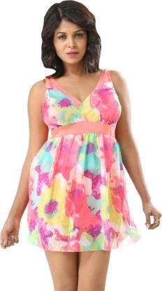 Printed Women Swim-dress Multicolor Swimsuit