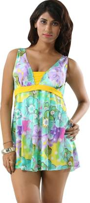 Floral Print Women Tankini Multicolor Swimsuit