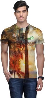 Wear Your Mind Floral Print Men Round Neck Multicolor T-Shirt