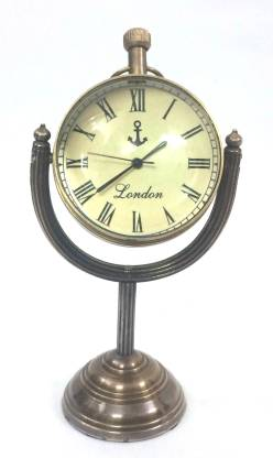 London Analog Brown Clock