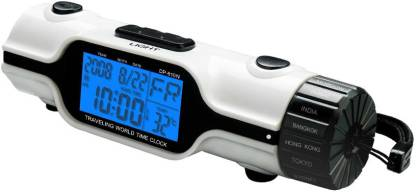 Shopper 52 Digital White Clock