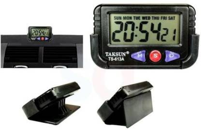 TAKSUN Digital Black Clock