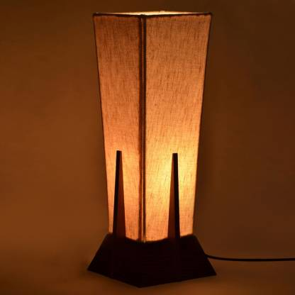 ExclusiveLane 14Inch Pyramid Lamp In Sheesham Wood Table Lamp