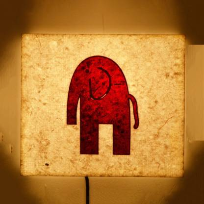 craftter Elephant Square Night Lamp