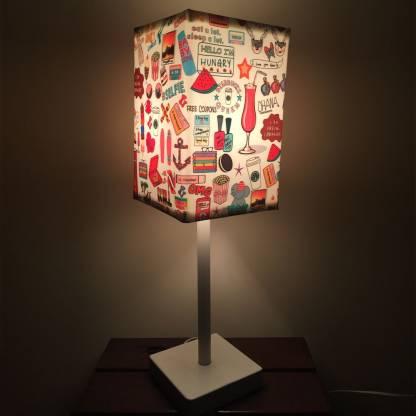 Nutcase Teen Kids Room Lamp Table, Pink Kids Lamp