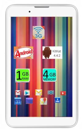I Kall IK1 (1+8GB) Dual Sim Calling Table 1 GB RAM 8 GB ROM 7 inch with Wi-Fi+3G Tablet (White)