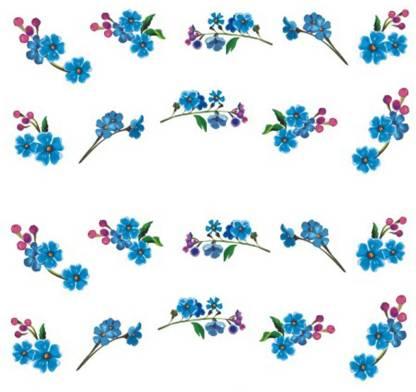 SENECIO™ Floral Blue Pretty Temporary Nail Tattoo Pack