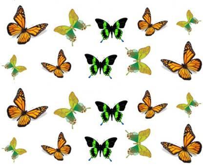 SENECIO™ Trendy Butterflies Temporary Nail Tattoo Pack