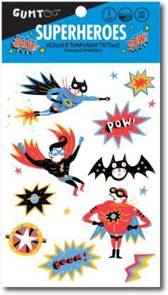 Gumtoo Superheroes - Designer Temporary Tattoos