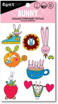 Gumtoo Bunny - Designer Temporary Tattoos